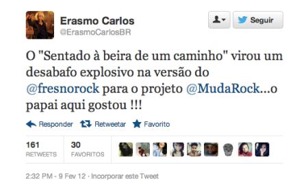 print screen twitter erasmo carlos