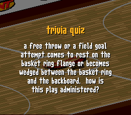A free throw or a field goal attempt comes to rest P