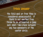 A free throw or a field goal attempt comes to rest R