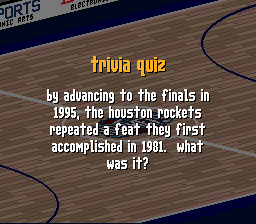 By advancing to the finals in 1995, Houston P