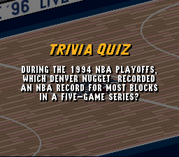 During the 1994 NBA Playoffs which Denver P