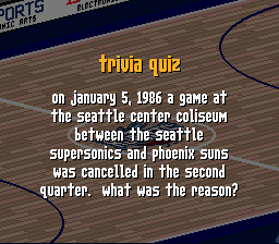 On January 5, 1986, a game at the Seattle Coliseum P
