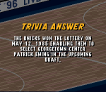 What team won the first ever lottery R