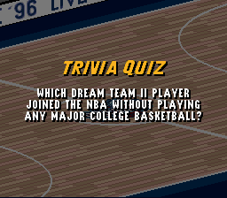 Which Dream Team II player joined without college P