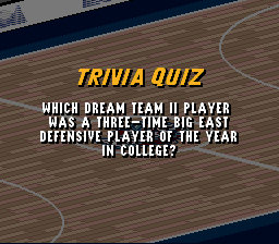 Which Dream Team II player was a three time Big East P