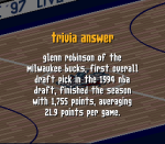 Which rookie finished the 1994-95 season highest R