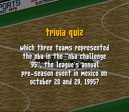 Which three teams represented the nba challenge 95 P
