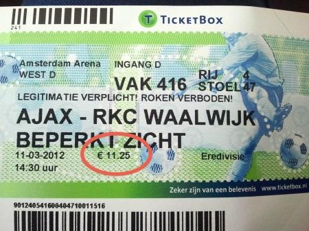 ajax-rkc-waalwijk-ingresso